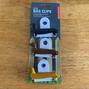 Kikkerland Dachshund Bag Clips